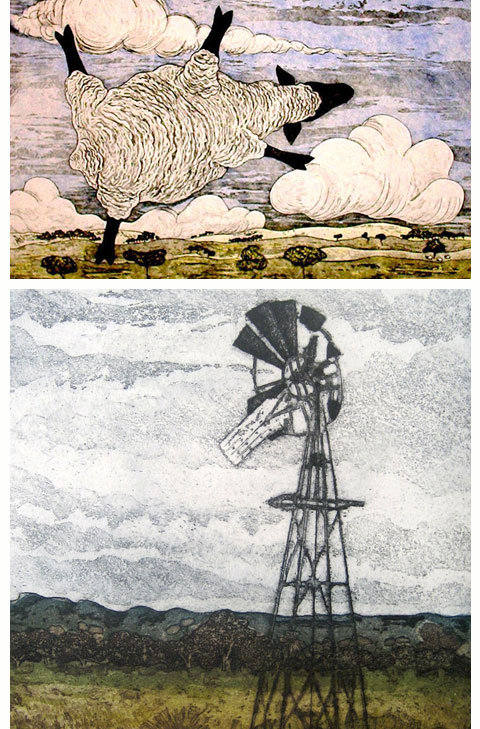 Kevin Foley prints: Wether Alert a windy day at Mia Mia (Top) Sentinel (Bottom)